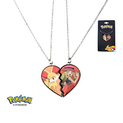 Womens Pokemon Trainer Best Friend Couple Pendant Necklace PMFNK01 (Selena & (Pokemon Trainer Couples)