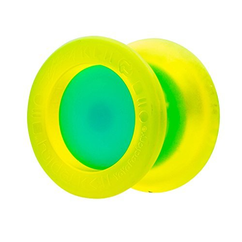 Replay Pro YoYo Edge Glow Yellow body with Aqua Cap YoYo - Unresponsive - From YoYoFactory by YoYoFactory