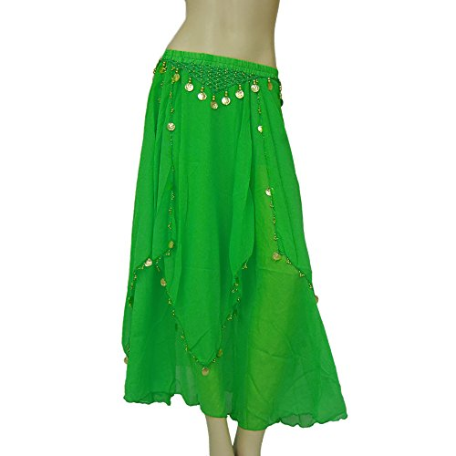 Belly Dance Dancer Competition Coin Skirts Costume Gypsy Clothing for (Belly Dancer Costume Cheap)