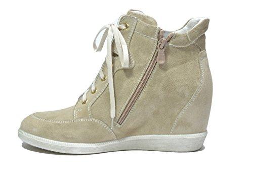 Nero Giardini Sneakers zeppa sabbia 2490 scarpe donna P512490D