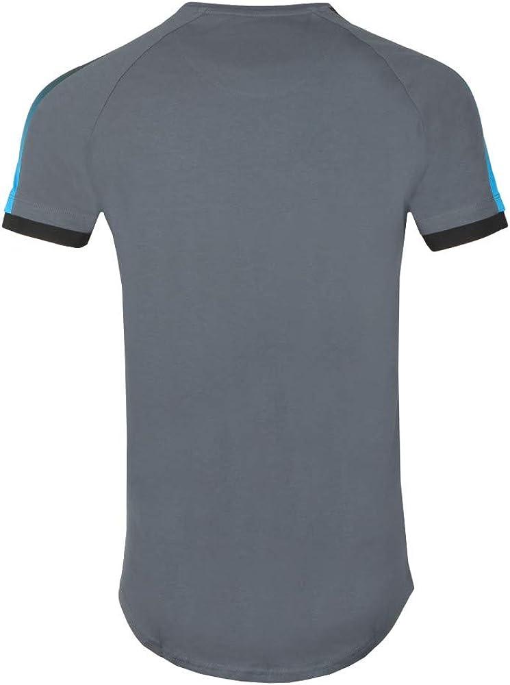 Sik Silk SS15802 Camiseta Siksilk 15802 S//S Inset Cuff Fade Panel Tech tee Grey