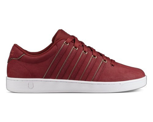 K-Swiss Men's Court Pro II SP P Cmf Sneaker, Firebrick/White, 10.5 M US (Pro Leather Sneaker)