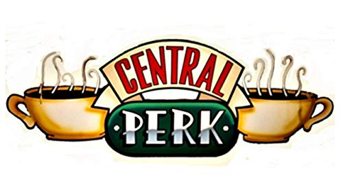 Coffee Perk Sticker Big Sticker. 14 inch long x 7 inch tall. The lovely coffee house where you want to have coffee]()