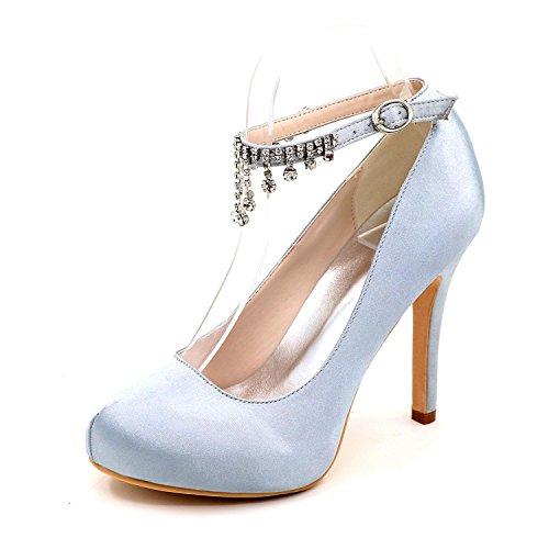 Sposa Primavera Donna Scarpe yc E Autunno Sera Tacchi Wedding Estate Alti L Silver Party Da Glittering wqTtRqX
