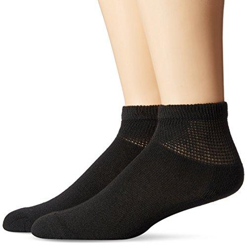 Dr. Scholl's Men's 2 Pack Non-Binding Ankle Socks,  Black...