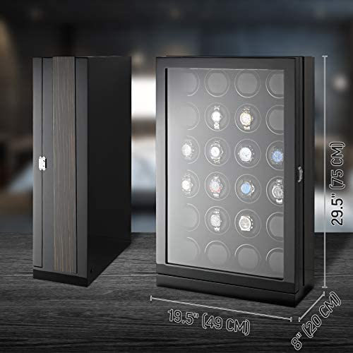 24 Watch Winder with Hi-Gloss Finish and LED Backlight