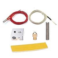 BALITENSEN DIY MK8 EXTRUDER Hot End Kit-MK8 Nozzle + MK8 Throat + MK8 Extruder Cotton Insulation Strip + MK8 Block for 3D Printer Part by BALITENSEN