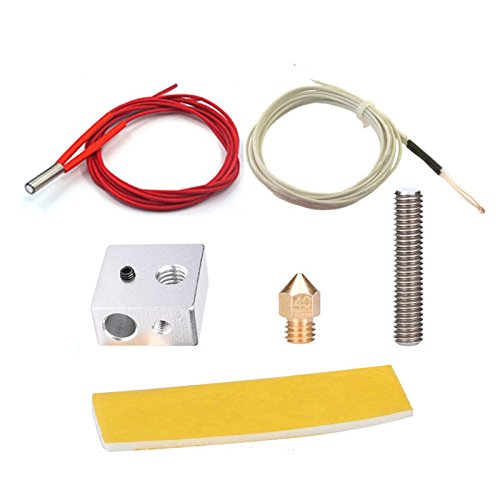 BALITENSEN DIY MK8 EXTRUDER Hot End Kit---MK8 Nozzle + MK8 Throat + MK8 Extruder Cotton Insulation Strip + MK8 Block for 3D Printer Part for cheap