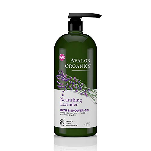 Avalon Organics Nourishing Lavender Bath & Shower Gel, 32 oz. - Herbal Moisturizing Shower Gel