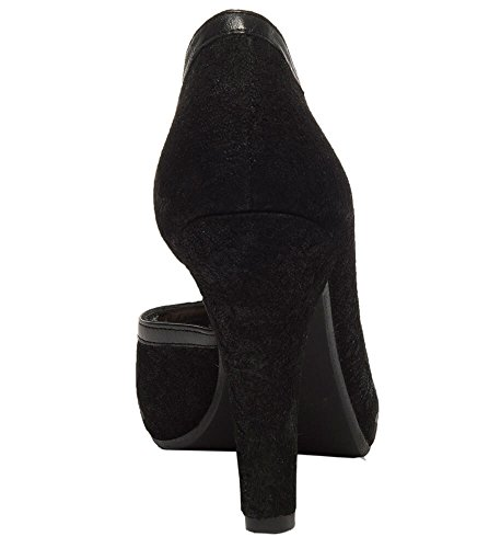 Stockerpoint 6015schwarz - Zapatos de vestir de Piel para mujer negro negro