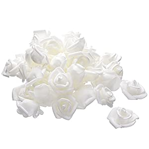 Moonvvin Artificial Roses Flowers Heads Fake Silk Roses Heads For DIY Wedding Bouquets Centerpieces Arrangements Party Baby Shower 68