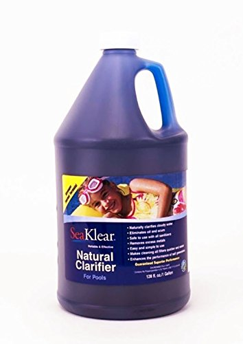 WQA Certified - SeaKlear Natural Clarifier for Pools,  1 Gallon  Bottle