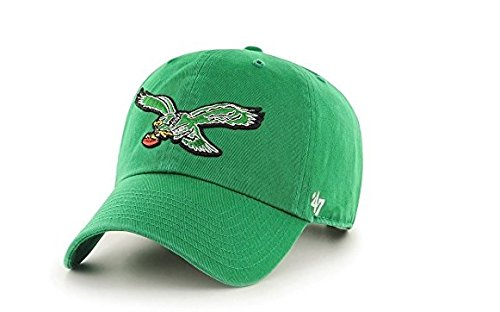 Philadelphia Eagles '47 Brand Clean Up Throwback Logo Adjustable Hat - Green