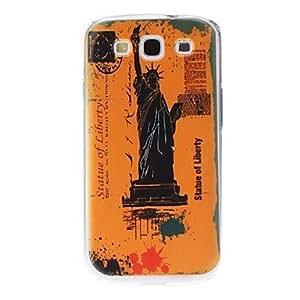 ZCL-Estatua de la libertad Caso duro del patrón para Samsung Galaxy S3 I9300