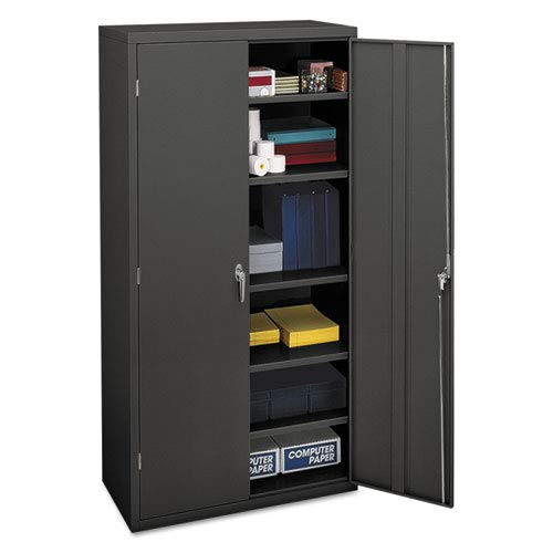 HON SC1872S Brigade Series Five-Shelf Storage Cabinet - High Storage Cabinet, 36w by 24d by 72h , Charcoal (HSC1872)