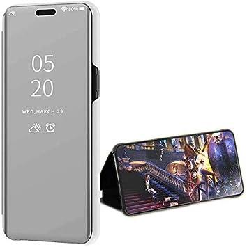 LsYun Funda Compatible para Huawei Y5(2018) Caja Espejo Mirror Flip Caso Standing Translucent Window Clear View,Cover 360°la Conception Des Chocs ...