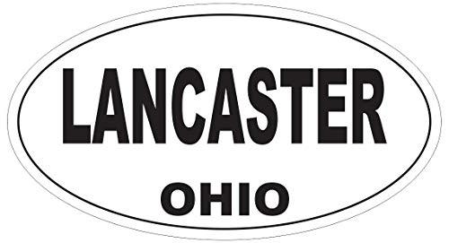 "Lancaster Ohio Oval Vinyl Bumper Sticker Decal D6126 5"""