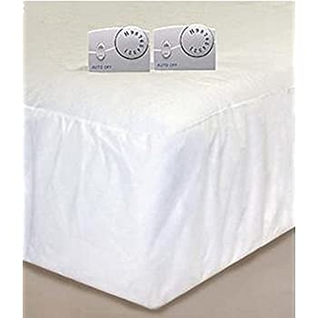 cannon heated mattress pad white queen