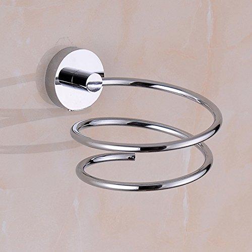 Lanlan Asciugacapelli Holder Porta asciugacapelli e piastra asciugacapelli da appendere alle ante dei mobili Porta phon da bagno