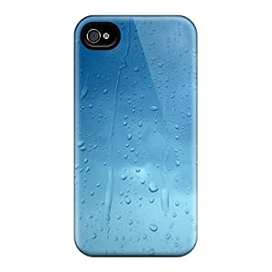New UiWOJwK1985OPMxI Rain Drops Tpu Cover Case For Iphone 4/4s