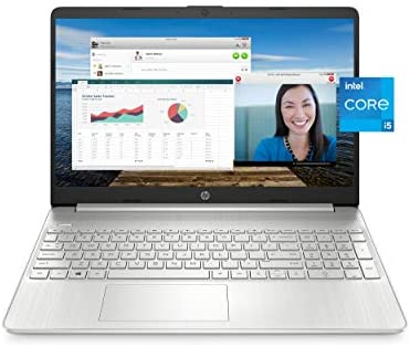 "HP 15 Laptop, eleventh Gen Intel Core i5-1135G7 Processor, 8 GB RAM, 256 GB SSD Storage, 15.6"" Full HD IPS Display, Windows 10 Home, HP Fast Charge, Lightweight Design (15-dy2021nr, 2020)"
