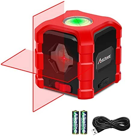 Laser Level Self Leveling Cross Line Laser Levels for Construction, Vertical and Horizontal Line Laser Leveler Tool with Bubble Level Avid Power