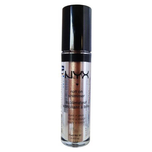 NYX Roll on Eye Shimmer / Almond - Bronze with Gold Glitter