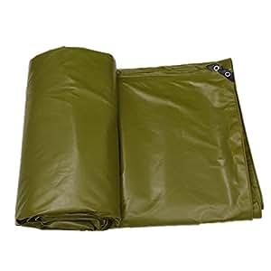 QIANGDA Toldo Hoja De Lona De PVC Impermeable Paño De Sombrilla Espesar Doble Cara Disponible, -550 G/M², Espesor 0,48 Mm, Ejercito Verde, 3 Tamaños Opcionales (Tamaño : 5 x 7m)