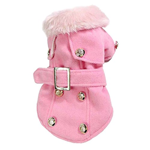 Luxury Warm Jacket Puppy Clothes Pet Clothing (S, Pink) (Italian Greyhound Dog Sweaters compare prices)