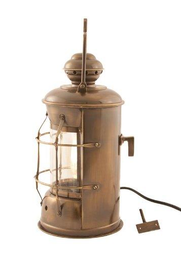 Electric Lanterns - Antique Brass Masthead Lantern 13.5'' - Nautical Lamp