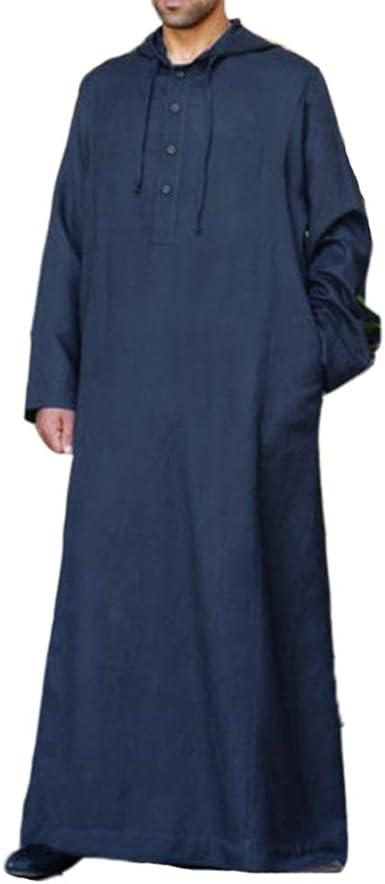 oneforus Túnicas de Kaftan étnicas para Hombres, Camisa ...