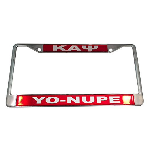 Desert Cactus Kappa Alpha Psi Metal or Plastic License Plate Frame for Front Back of Car (Metal - Call Tag) (Alpha Merchandise)