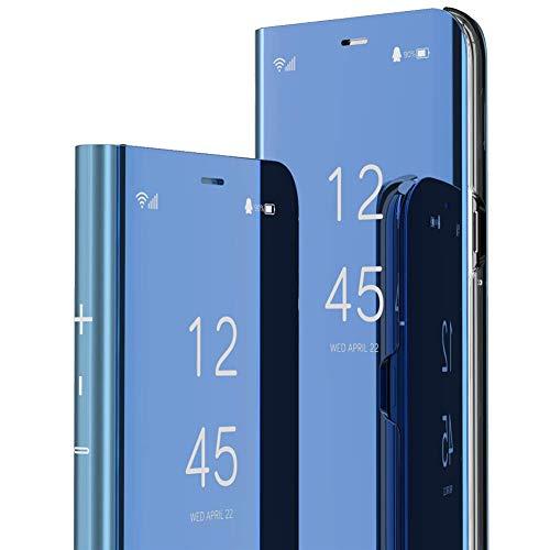 Nainika Flip Cover for Mi Redmi Note 9 Polycarbonate/Blue