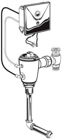 American Standard 6061.310.007 Concealed Selectronic 3/4-Inch Back Spud Urinal Flush Valve, Multi AC Powered, 1.0 Gpf, Rough Brass