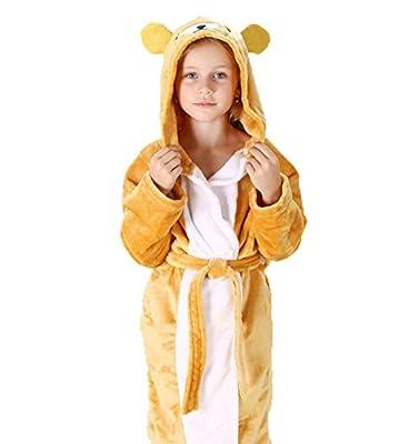 EkarLam Flannel Children Kids Animal Cartoon Pajamas Cosplay Hoody Bathrobe