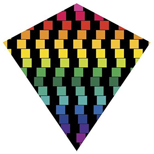 25 Inch Cubes ColorMax Nylon Diamond Kite with Line & Winder/Handle by X-Kites