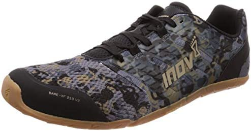 Inov 8 Bare Xf 210 V2 Barefoot Minimalist Cross Training Shoes Zero Drop Wide Toe Box Versatile Everyday Shoe Ideal For Deadlifting And Agility Work Grey Gum 6 5