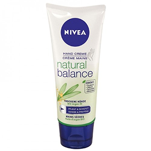 Nivea Handcreme 100ml Pure & Natural, 6er Pack (6 x 100 ml)