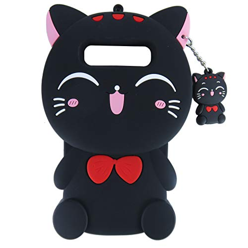 EMF Cute Black Plutus Cat Case for Samsung Galaxy S10,3D Cartoon Animal Silicone Protective Kawaii Funny Character Cover,Animated Cool Skin Case for Kids Teens Guys (Plutus Cat, Samsung Galaxy S10)