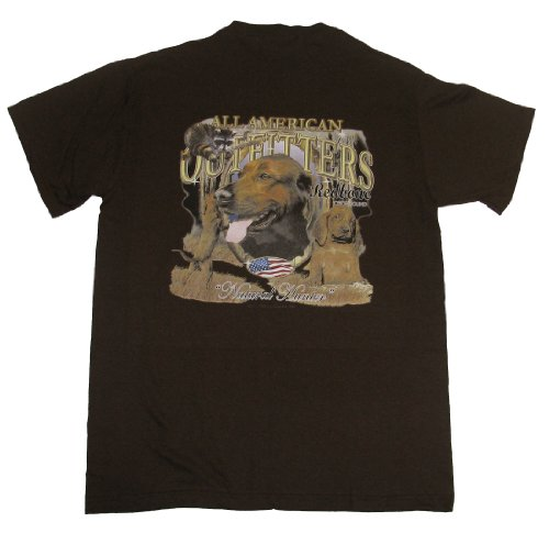 Redbone Coonhound - All American Outfitters - on Brown Adult T-Shirt-xl (All American Outfitters)