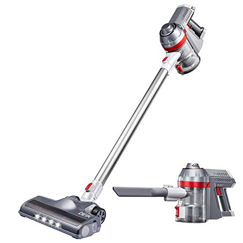 Cordless Vacuum Cleaner 11Kpa Powerful Suction 4 in 1 Stick Handheld Vacuum Cleaner with Rechargeable Lithium-Ion Battery for Home Hard Floor Carpet Car Pet Cleaning, 2020 Upgraded Version