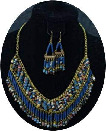 Wind & Wave Collar con Cuentas de Cleopatra, Accesorios egipcios ...