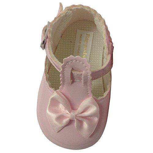Taufschuhe Baby Schuhe Leder Lackleder Sandalen Taufe Hochzeit Junge Mädchen rosa (12-18 Monate, rosa)