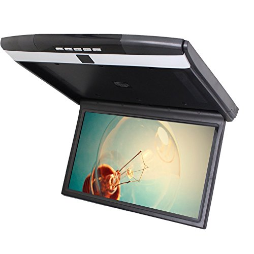 Black EinCar Car Ceiling 15 inch Inch Roof Mounted Overhead SD USB 2 Video in. ()