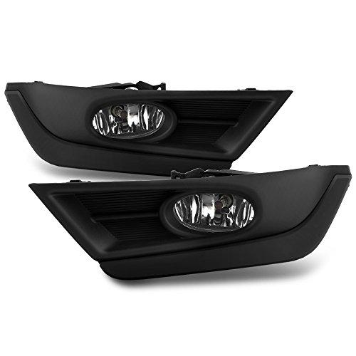 VIPMOTOZ For 2017-2018 Honda CR-V Fog Lights - [Factory Style] - Matte Black Trims, Metallic Chrome Housing, Driver & Passenger Side -
