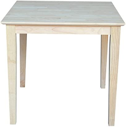 International Concepts Square Solid Wood Top Table