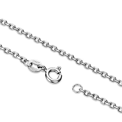 - Ashley Jeweller Sterling Silver 2.0mm Cable Chain Necklace Solid Italian Nickel-Free, 20