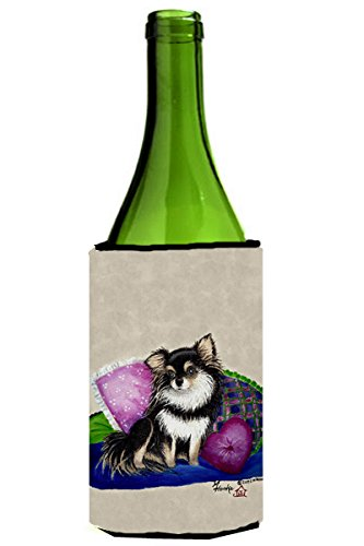 Chihuahua on their couch Wine Bottle Beverage Insulator Hugger MH1012LITERK (Wine Chihuahua)