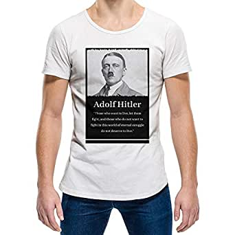 Adolf Hitler White Round Neck T-Shirt For Unisex