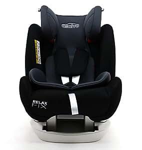 Asalvo - Silla de coche grupo 0123 Relax Fix , Color Negro